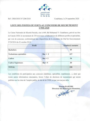 Concours cnss 2020