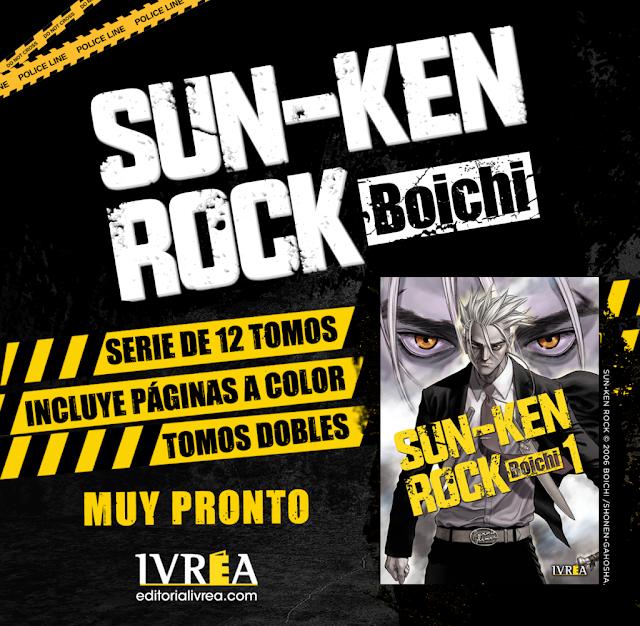 Ivrea publicará SUN-KEN ROCK de Boichi.