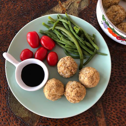 Boulettes de riz au tofu fumé Céréal Bio vegan