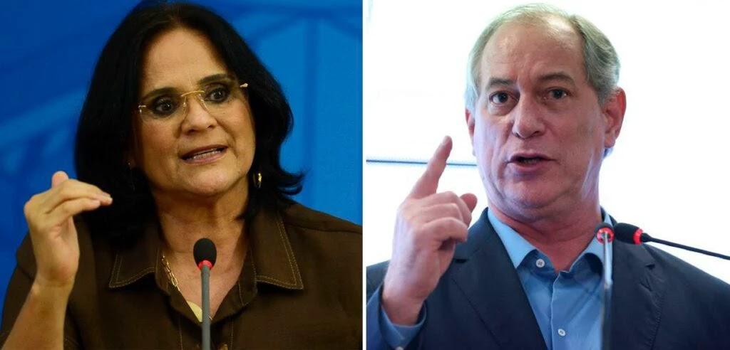 Damares Alves e Ciro Gomes
