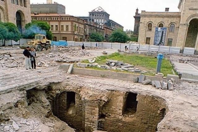 Abrirán un museo bajo el centro de Ereván