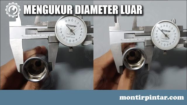 cara menggunakan jangka sorong untuk diameter luar