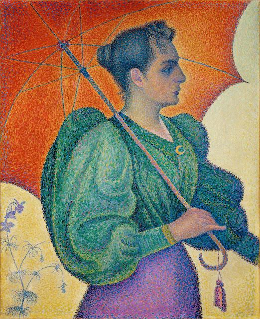 Paul Signac's Femme à l'ombrelle Painting
