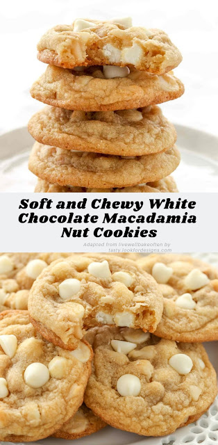 Soft and Chewy White Chocolate Macadamia Nut Cookies