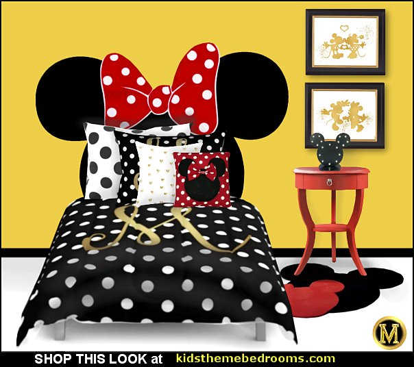 MINNIE  mouse bedding minnie  mouse bedroom decor  minnie mouse pillows