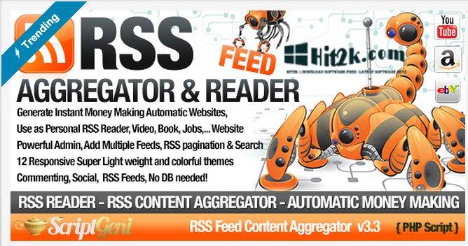 RSS Aggregator 2.0 RSS Site Builder Regular License