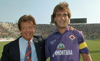 Cecchi Gori with the Fiorentina star Gabriel Batistuta