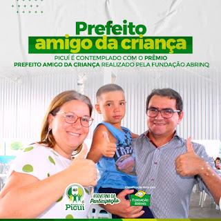 Município de Picuí é destaque na Fundação ABRINQ e prefeito Olivânio Remígio recebe prêmio de Amigo da Criança