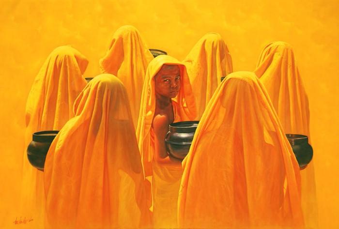 Лица монахов. Aung Kyaw Htet 13