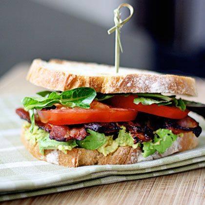 Bacon Lettuce Avocado Tomato Sandwich