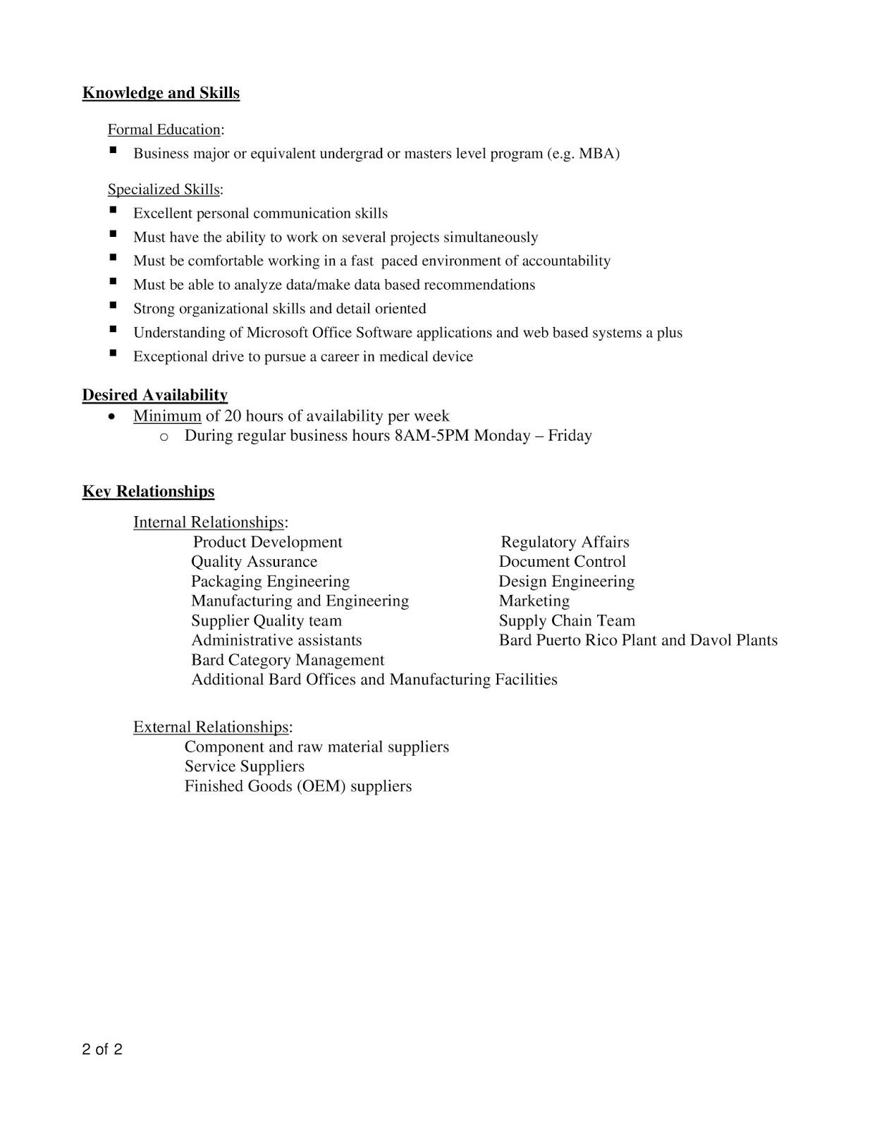 URI CBA Internship/Job Information: BARD Davol Inc