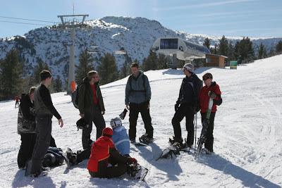 Skiers in Bansko