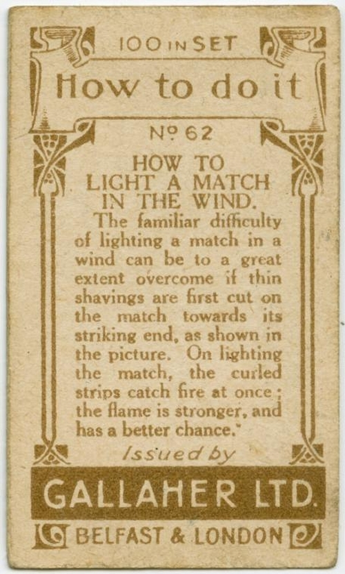 02-How-to-light-a-match-in-the-wind-Gallaher-How-to-do-Cards-from-the-Early-1900-www-designstack-co