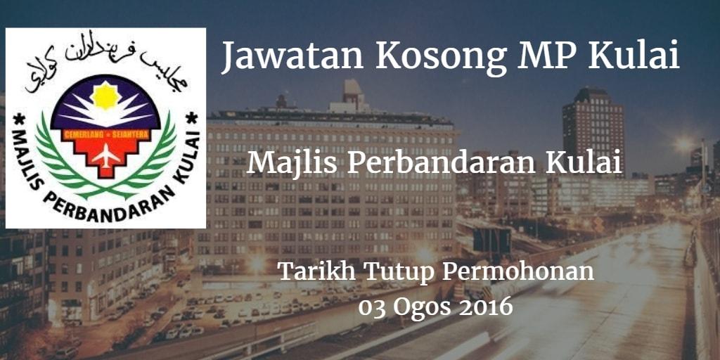 Jawatan Kosong MP Kulai  03 Ogos 2016