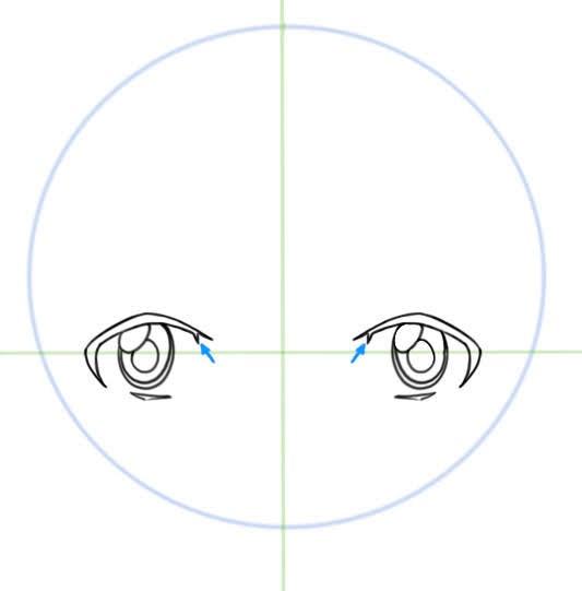 épaissir les contours des yeux