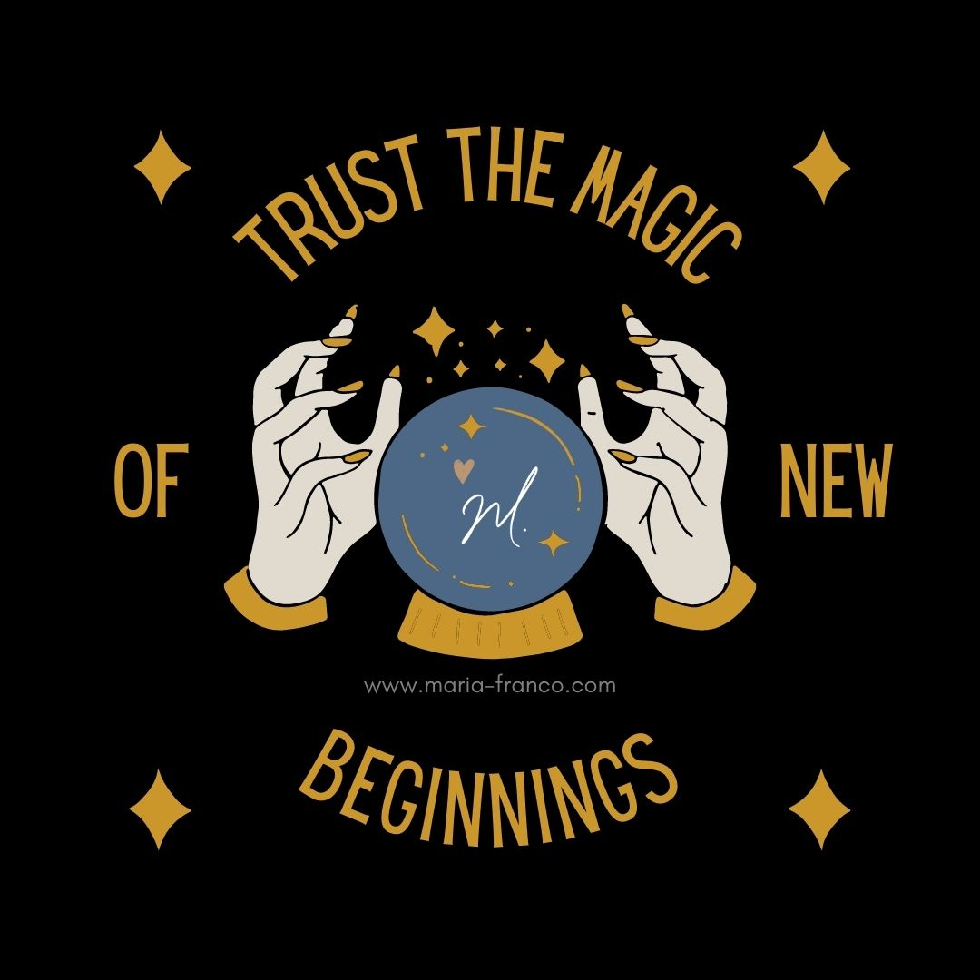"""""""And suddenly you know: It's time to start something new and trust the magic of beginnings."""""""