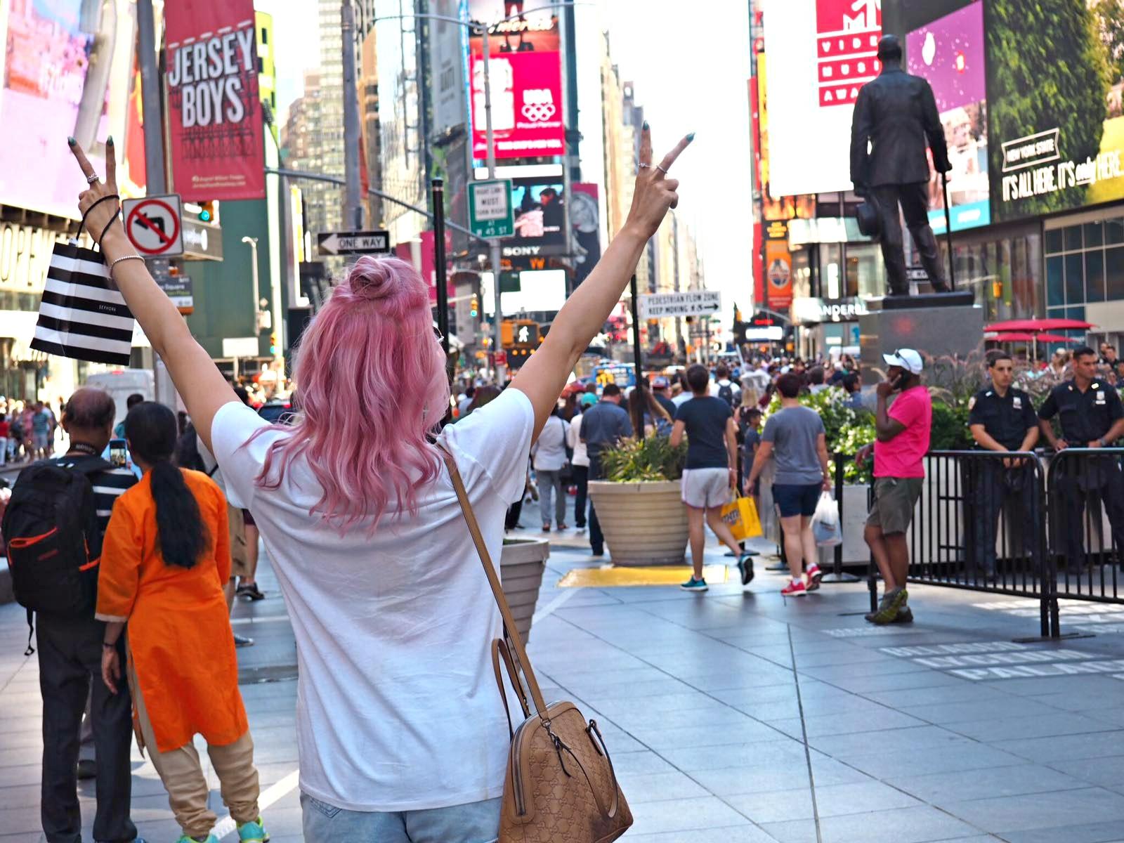 Times Square, New York, blogger trip