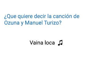 Significado de la canción Vaina Loca Ozuna Manuel Turizo.