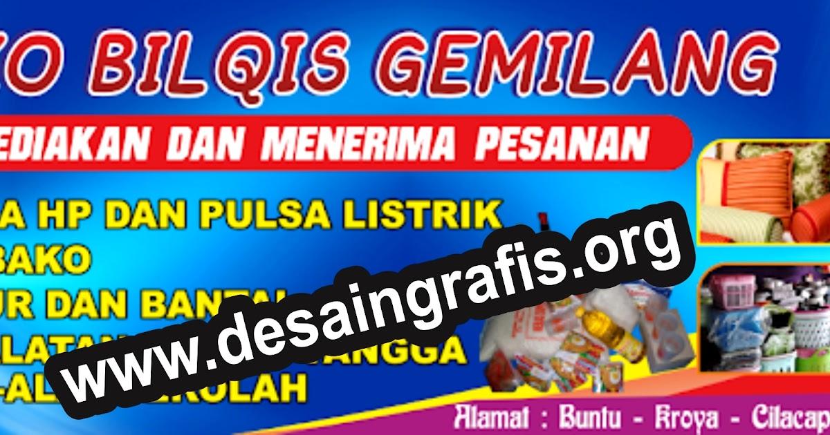 Desain Banner Toko / Warung Sembako / Kelontong cdr ...