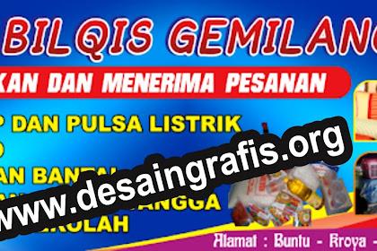 Cool Desain Spanduk Warung Sembako Cdr