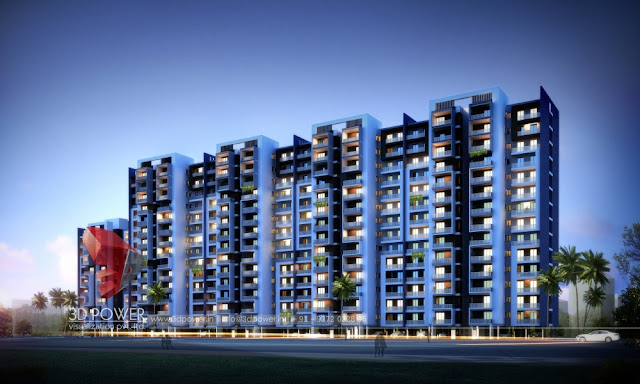 apartment elevation highrise rendering 3d power