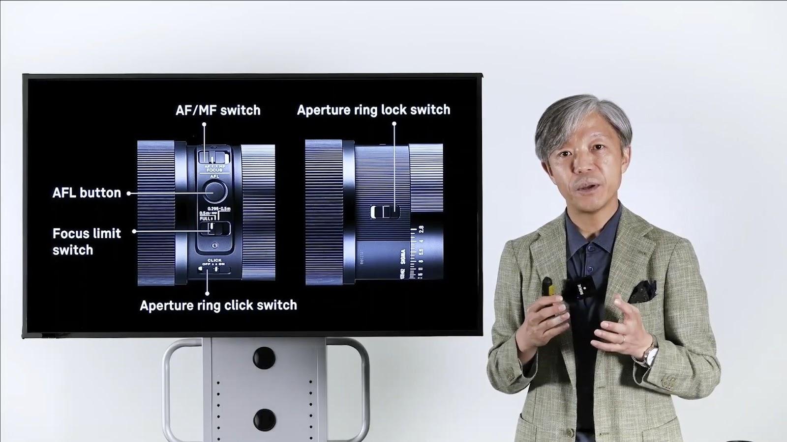 Органы управление объектива в Sigma 105mm f/2.8 DG DN Macro Art