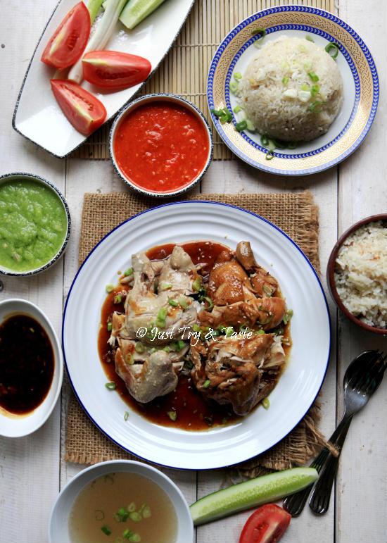 Resep Nasi Ayam Hainan Komplit Dengan 3 Macam Saus Just Try Taste