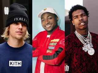 Davido, Justin Bieber and Lil Baby