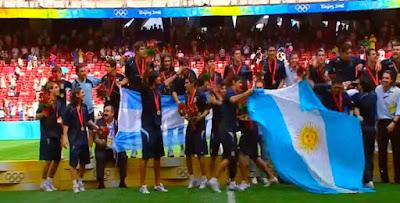 الأرجنتين تحرز ذهبية كرة القدم فى أولمبياد بكين 2008