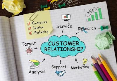 Caderno com ferramentas e notas sobre relacionamento com o cliente