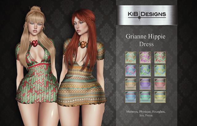 KiB Designs - Grianne Hippie Dress @Hash in Hippie,Peace and Love Fair