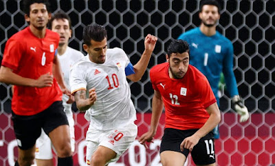 ملخص مباراة مصر واسبانيا 0-0 في اولمبياد طوكيو