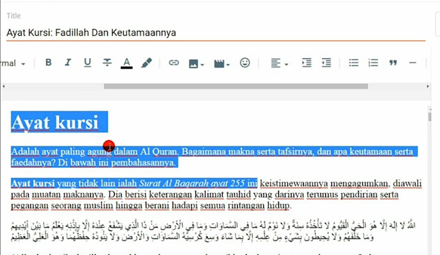contoh seo on page
