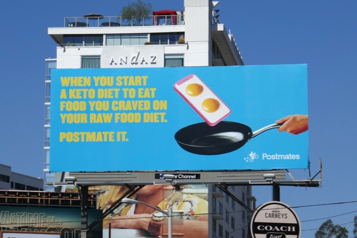 Keto Raw Food Diet Postmate it billboard