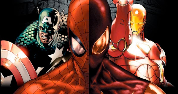 Spider-Man Civil War con Iron Man y Capitán América