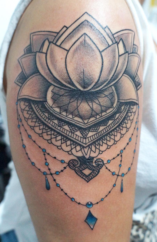 Flor De Lotus Mandala Tatuagem Naturallycurlyecom
