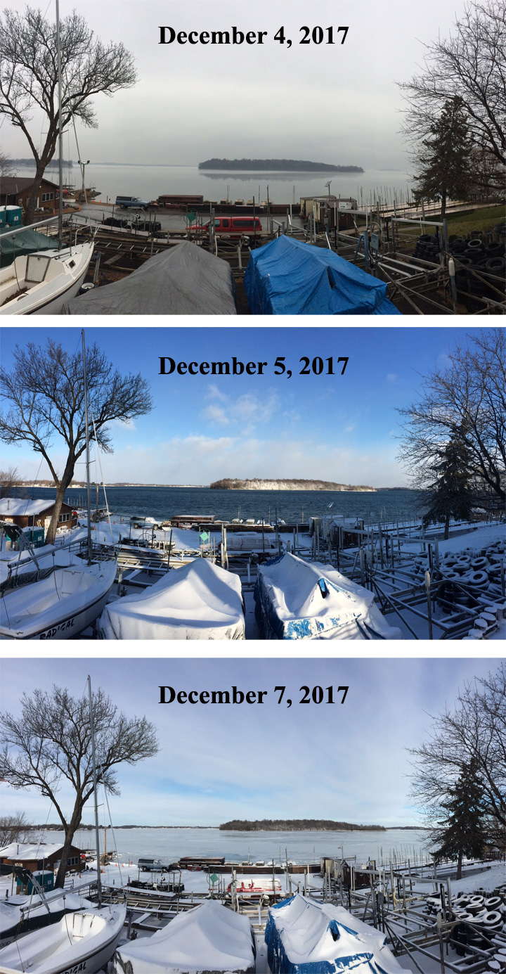 In towne marina news feed ice is forming on lake waconia for Lake waconia fishing report
