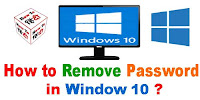 How to Remove Password in Window 10?