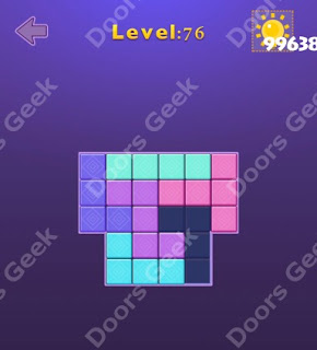 Cheats, Solutions, Walkthrough for Move Blocks Easy Level 76