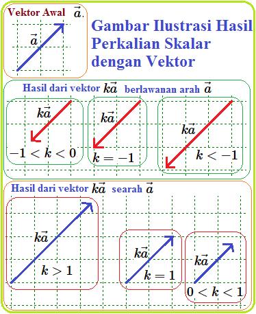 Perkalian Vektor Dengan Skalar Konsep Matematika Koma