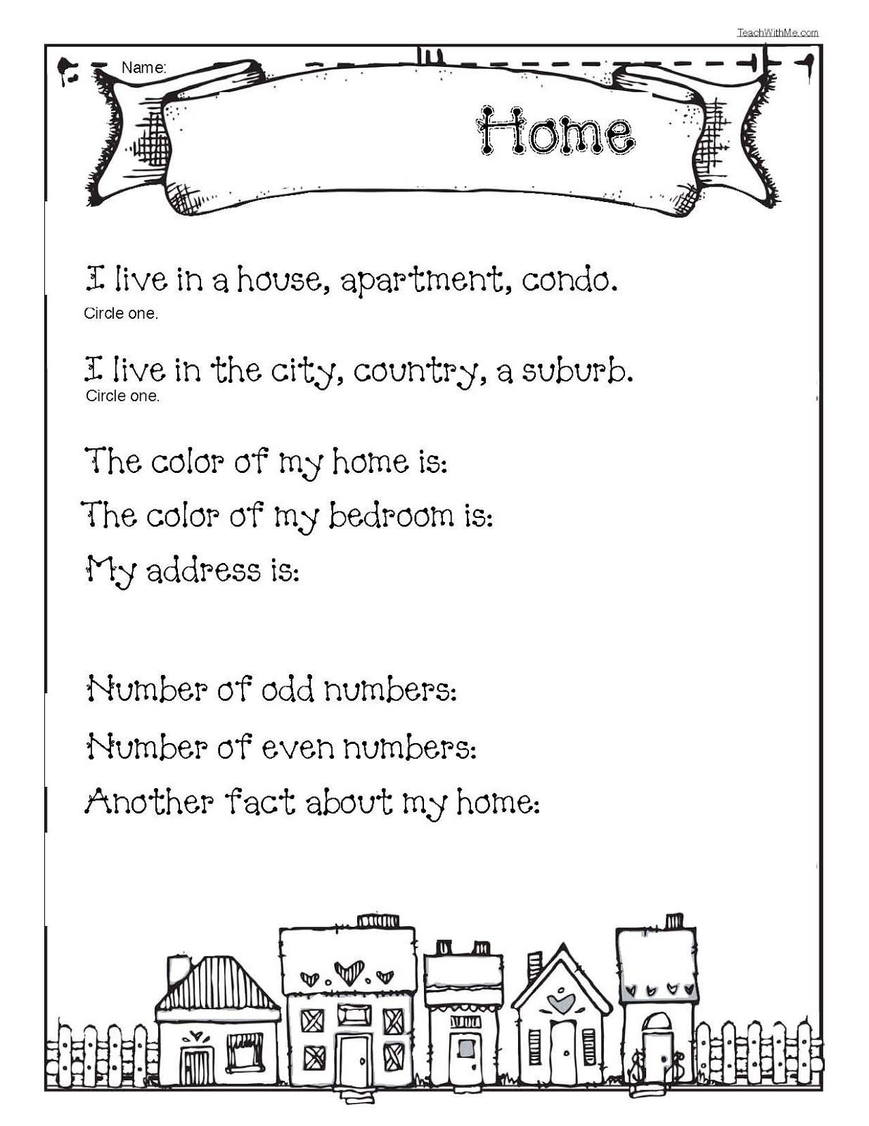 Creative Writing My House 96 Free Esl My House Worksheets