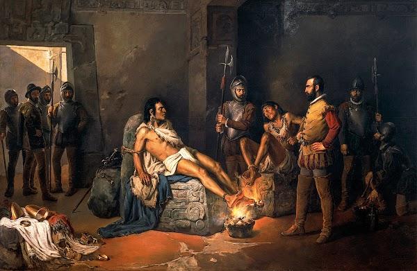 Cuauhtémoc, el último emperador Azteca.