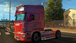 Hot Magenta skin for Scania RJL
