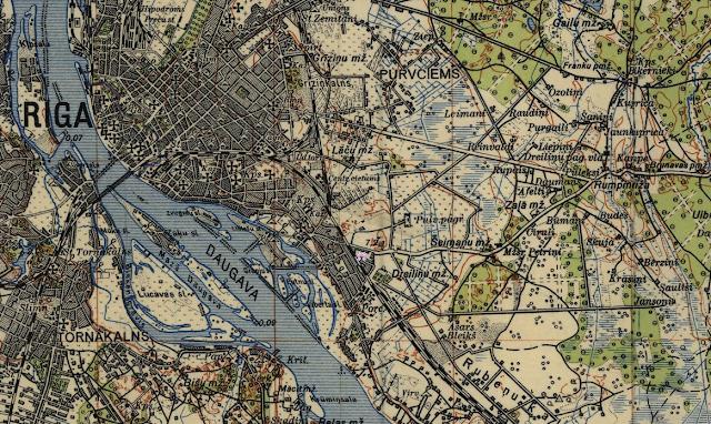 Район Плявниеки 1925 год