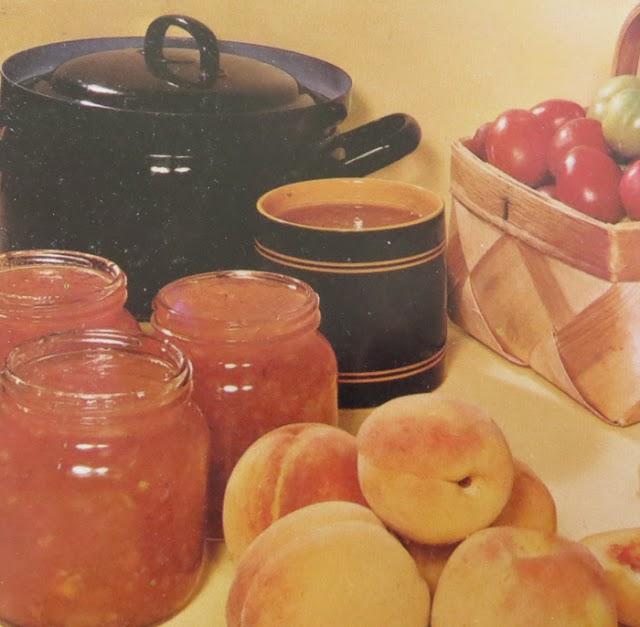 Marmelad med plommon och persikor