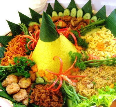 Rice Tumpeng from Indonesia  All Recipes For You