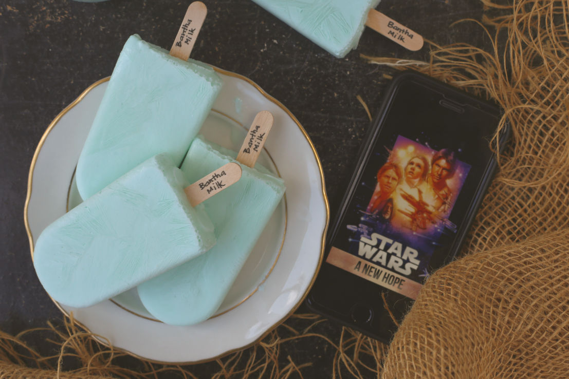 Bantha Milk Popsicles (Blue Milk) #FoodnFlix #StarWars