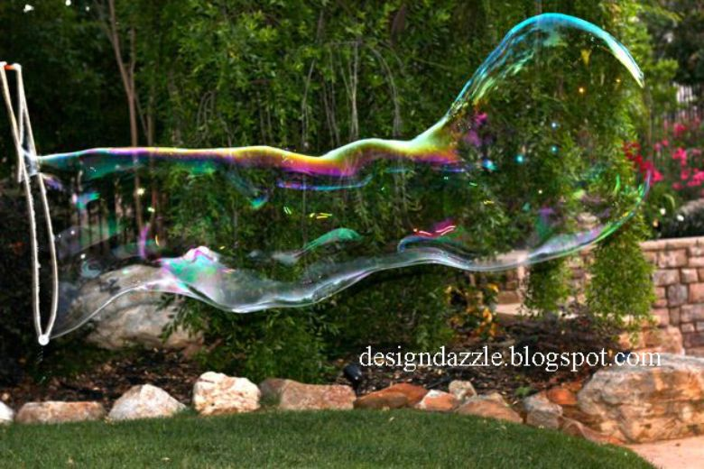 Giant bubbles - spring activity for kids