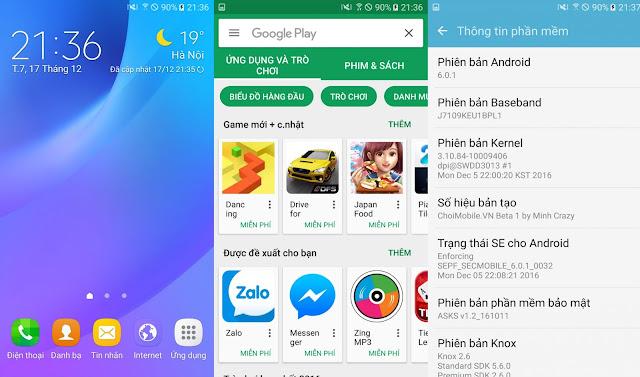 ROM quốc tế cho Samsung Galaxy J7109 (J7 2016 ver China)