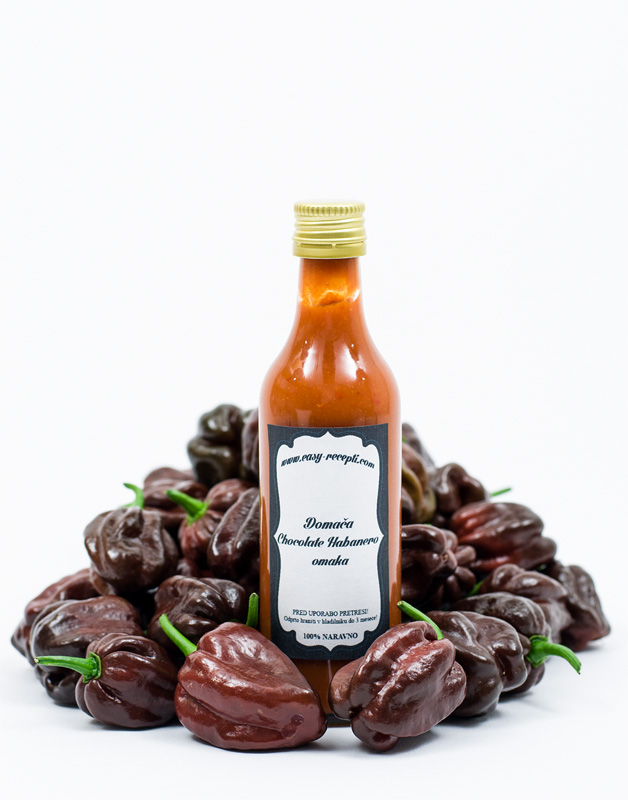 Chocolate habanero sauce - homemade front